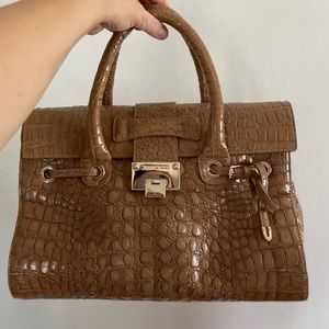 Jimmy Choo Rosalie Crocodile Satchel